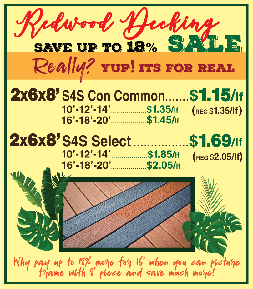 2x8 Decking SALEUPDATE